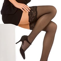 Perfect Chic 20 luxury lace top hold-ups