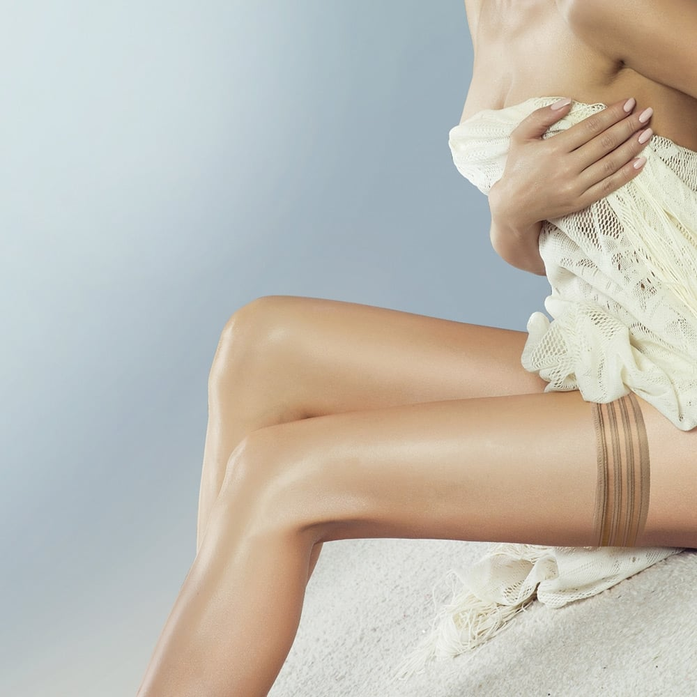Couture Perfectly Sheer tri-band hold-ups