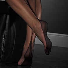 Point heel FF stockings - PLAIN COLOUR - SECONDS
