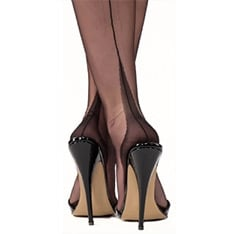 point heel fully fashioned stockings