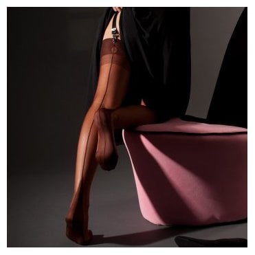 Eleganti Point Heel fully fashioned stockings - plain - PERFECTS
