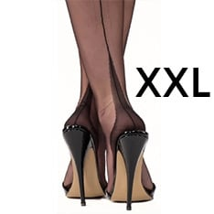 point heel fully fashioned stockings - XXXL - size 12.5