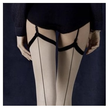 Fiore Provoke seamed vintage style stockings