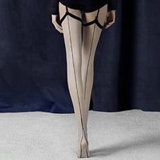Provoke seamed vintage style stockings