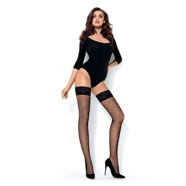 Mona Rete fishnet hold-ups