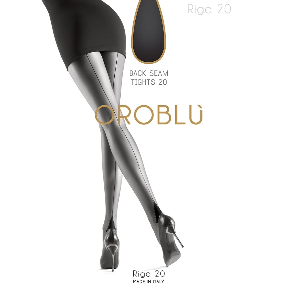 Oroblu Riga seamed tights with pyramid heel