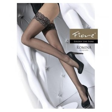 8a68be93e Romina black and gold lace top hold-ups