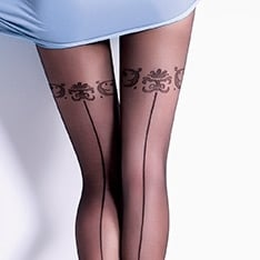 Safina 20 model 5 backseam tights
