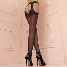 Scandal sheer suspender tights