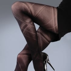 Silky Scarlet Criss Cross tights
