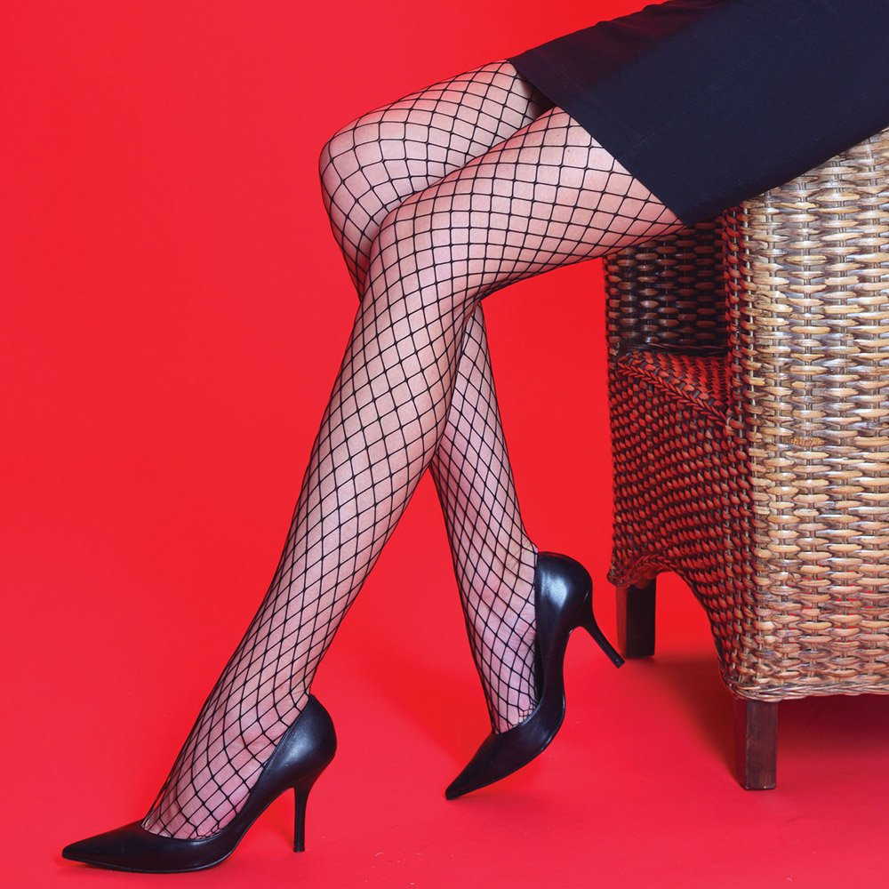 Silky Scarlet Medium Net tights
