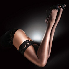 Sensuous luxury lace top hold-ups