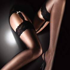 Sensuous luxury lace top stockings