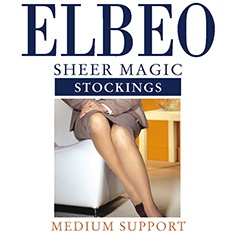 Sheer Magic factor 8 medium support stockings