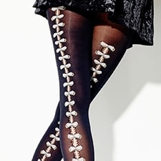 Songes D'Amour bow seam tights  - SAVE 50%!