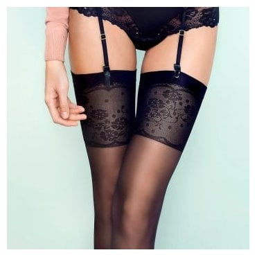 Fiore Spring Date floral top stockings