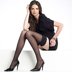 suede matt opaque hold-ups