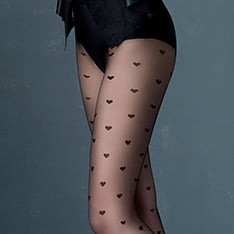 Super Love heart pattern tights