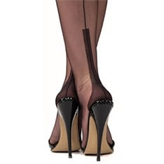 Susan heel fully fashioned stockings - XXXL - size 12.5