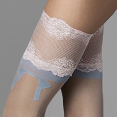 The One blue bow hold-ups