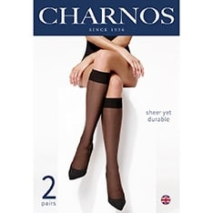 Trouserwear sheer knee highs - 5 pair pack