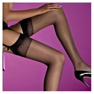 Levante Vanessa diamond top stockings