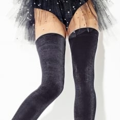 Girardi Velours velvet hold-ups - SAVE 15%