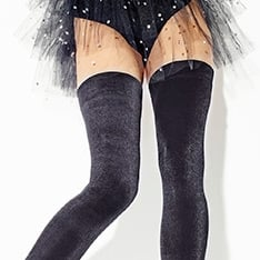 Velours velvet hold-ups - SAVE 15%