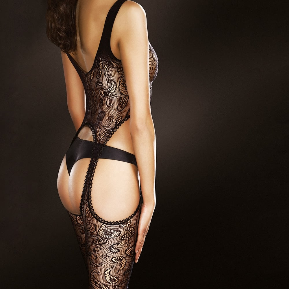 Fiore Venus fishnet lace bodystocking