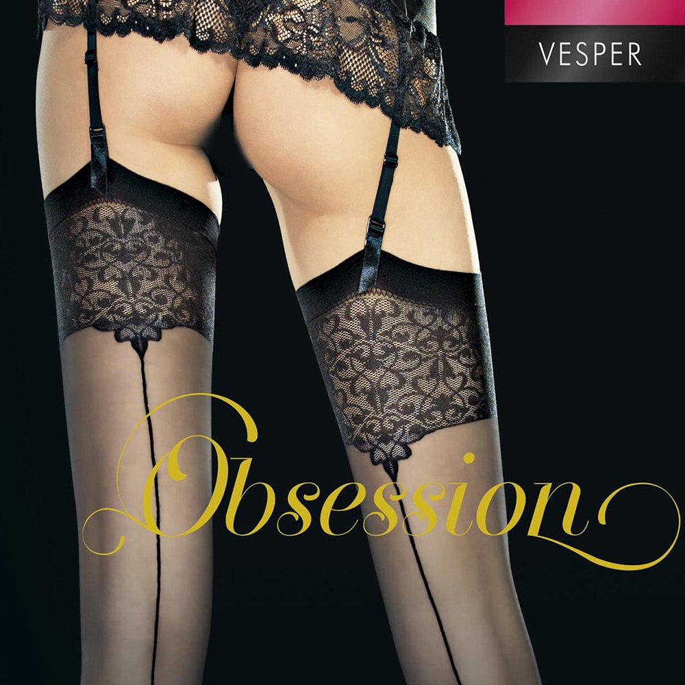 Fiore Vesper ornate top backseam stockings