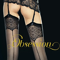 Vesper ornate top backseam stockings