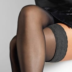Le Bourget Voilance satin finish hold-ups