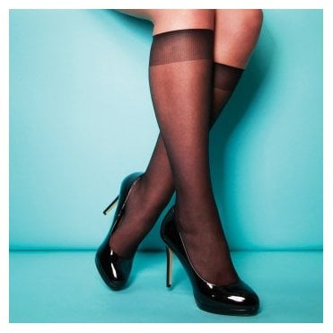 Charnos XeLence 15 denier comfort top sheer knee highs